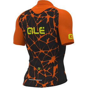 Alé Cycling Cracle Short Sleeve Jersey Men black-flou orange-flou yellow